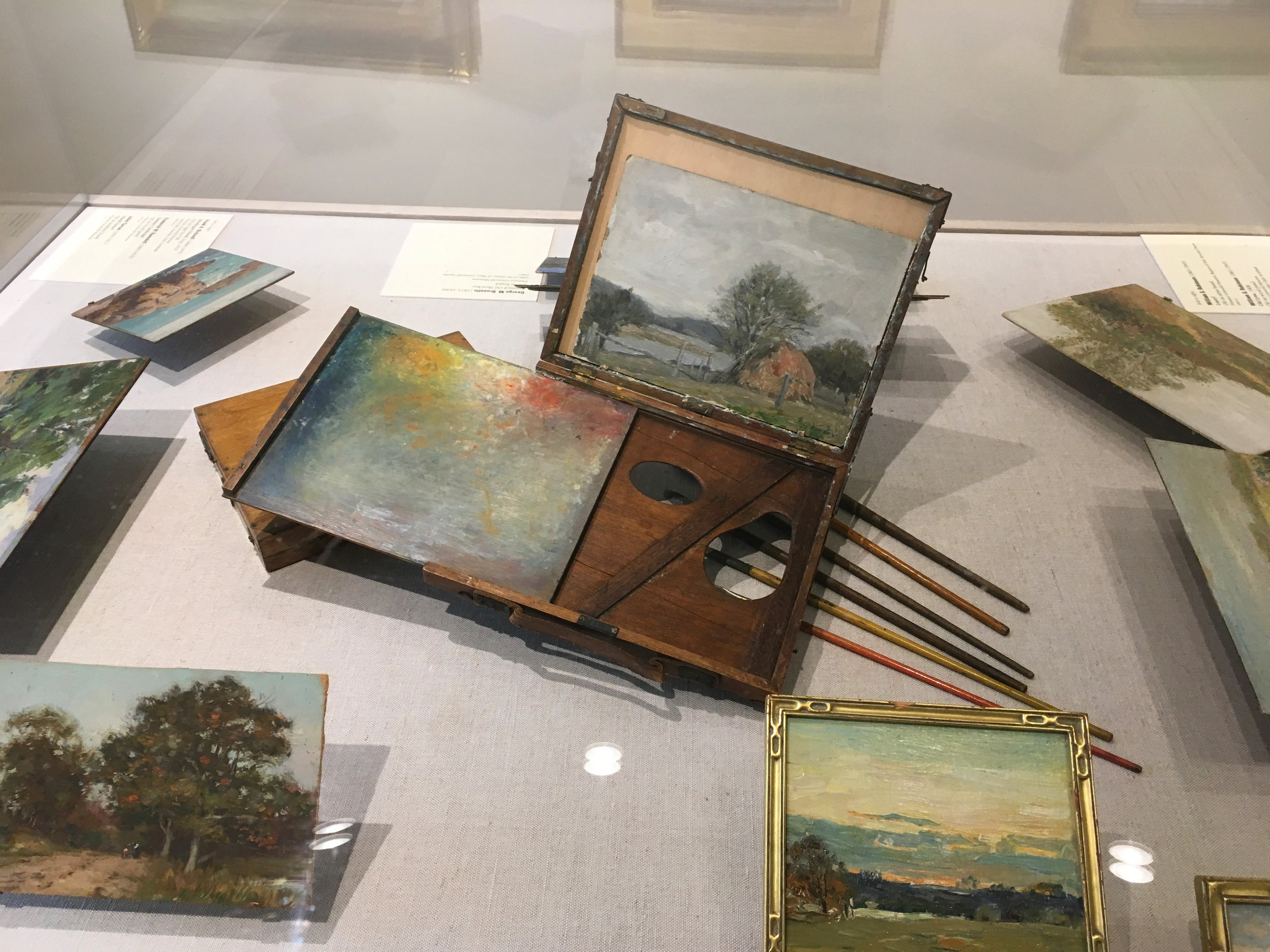 Plein Air paintings and supplies at the Florence Griswold Museum in Old Lyme, Connecticut.