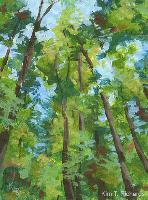 "Armstrong's Giants  6x8"" acrylic on canvas panel $70 unframed"