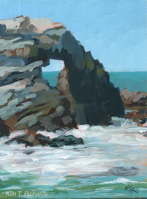 "Seal Rock  6x7""acrylic on canvas panel $70 unframed"