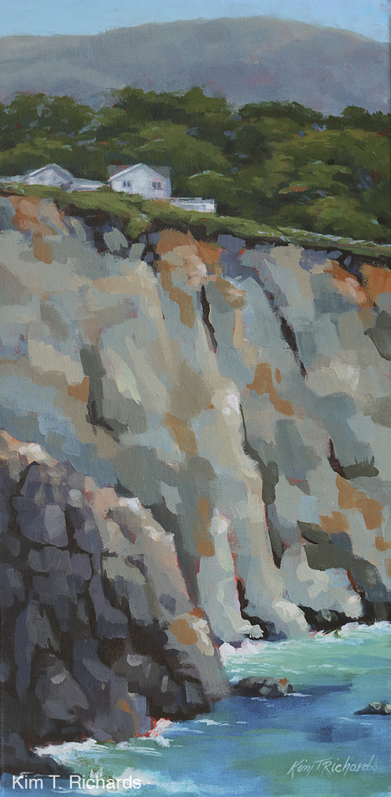"""On the Edge  12x24"""" acrylic on gallery wrapped canvas $325"""