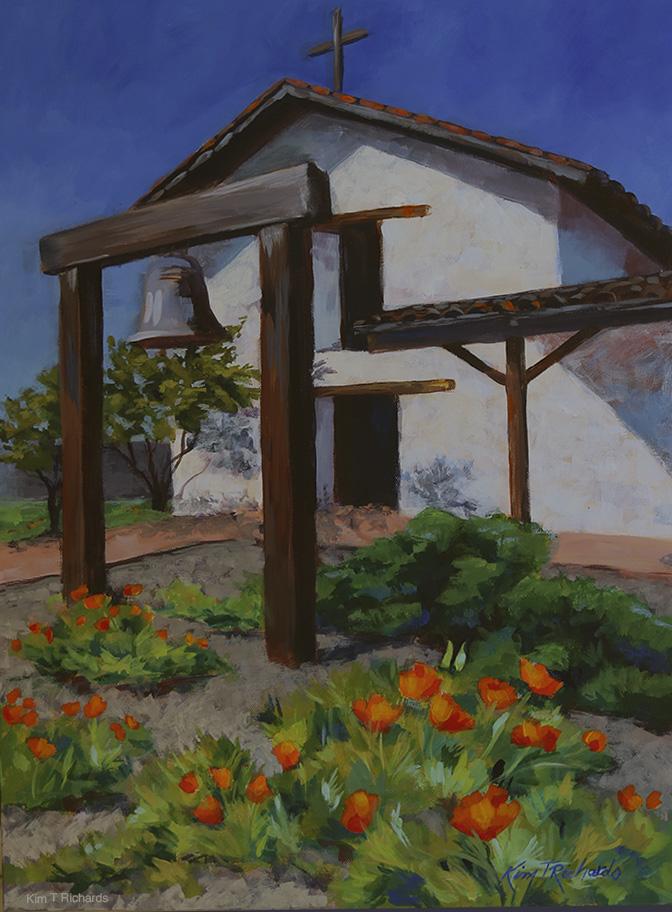 """""""Mission San Francisco Solano"""" - 18x24"""" acrylic $550"""