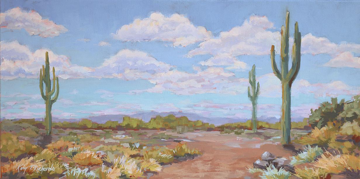 """Desert Walk 12 x 24"""" acrylic"""