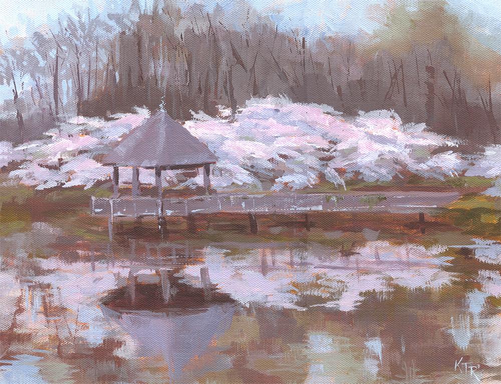 "Meadowlark Reflections 2 14 x 11"" acrylic on canvas"