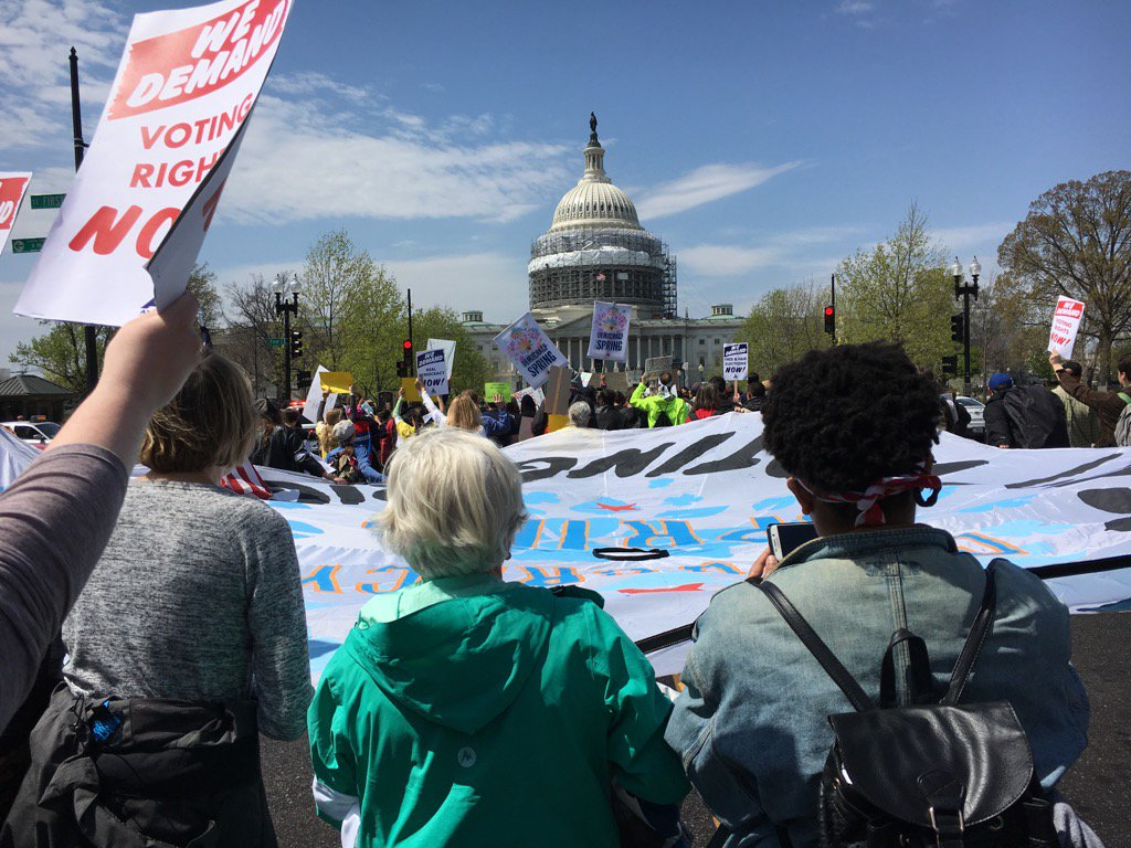 Democracy Spring march to the Capitol