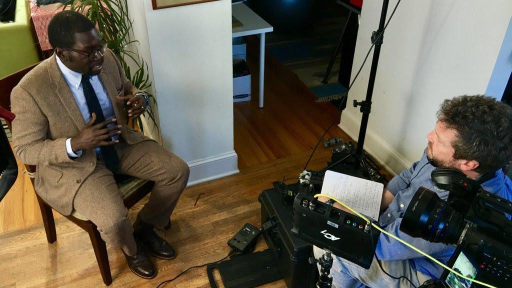 Producer Jon Erickson interviewing Slate's Jamelle Bouie. January 4, 2017.