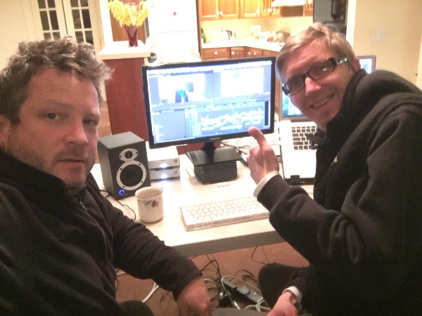 Jon Erickson and Brad Johanson editing like mad in Vermont.