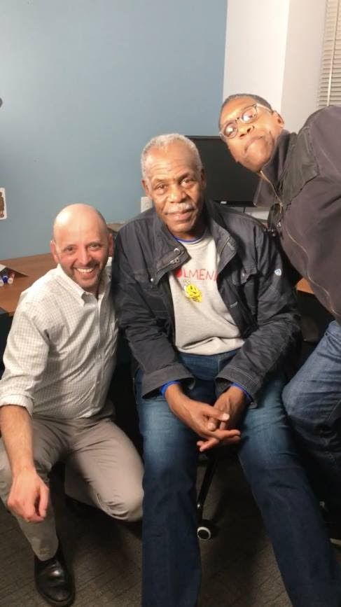 Jacob, Danny Glover and sound recordist extraordinaire Chris Downing.