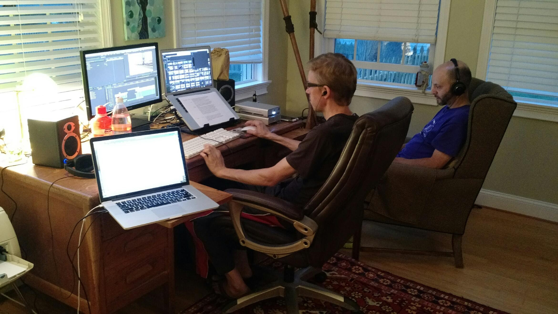 Brad and Jacob, getting it done in the editing suite.