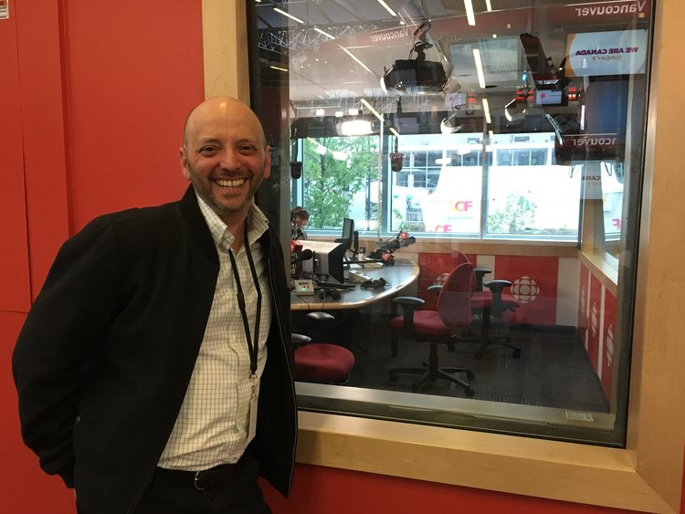 Producer Jacob Smith at CBC/Radio-Canada studios in Vancouver.