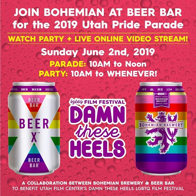 Join us @beerbarslc for the Pride parade! Limited edition #beerx pride cans will be flowing  along with the good times. #slcpride #utahpride #bohopride #drinklocal