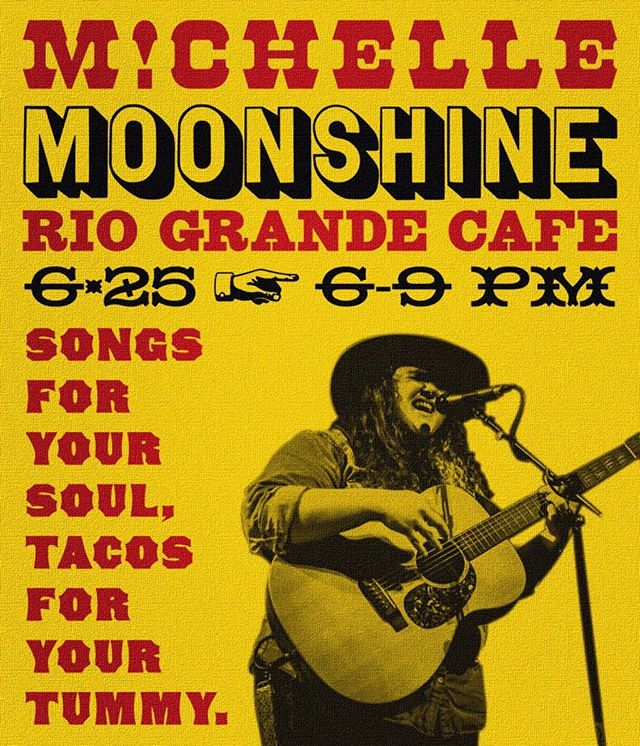 Come enjoy a Sir-Veza @riograndecafe next week and catch our girl @michellemoonshine live !
