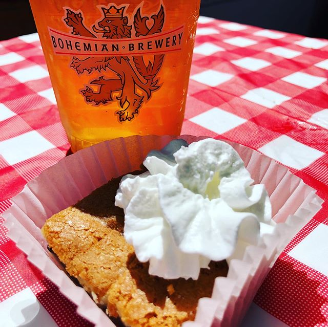 Pie and beer day @beerbarslc 2019 We're paired with @thedodo and their Tollhouse cookie pie! Get it while you can #Kolsch #beer #pieandbeerday #pie #utahisrad #drinklocal