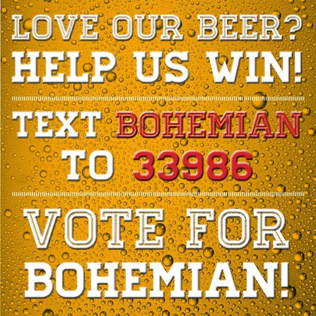 Vote for Bohemian!  We're at the @shopthegateway food truck and Brewery Battle and we need your votes to win! #drinklocal #bohemianbrewery #utahbeer #skiutah #utahisrad