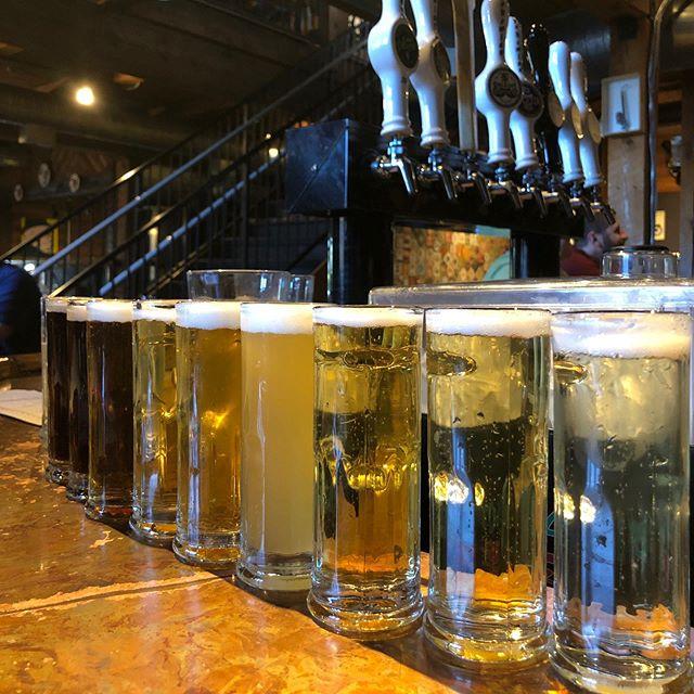 Line them up and knock em down! #Mondaynightflights #bohemianbrewery #drinklocal #utahbeer #beer #craftbeer