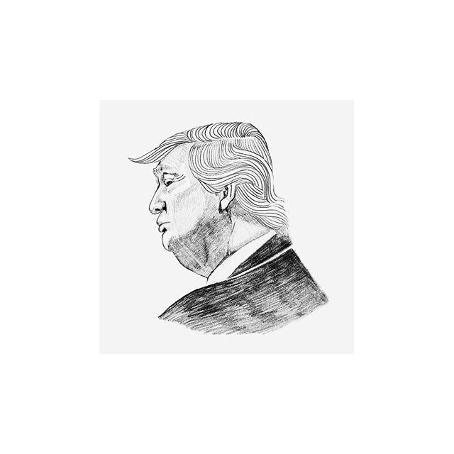 Donald Trump / graphite on paper // #patriarchy #patriarch #antiracism #antimisogyny #misogynist #racist #hate #love #lovewins #dontgiveup #loveharder #loveisbetter #loveisstronger #empathy #lovenothate #loveinsteadofhate #loveinstead #minimalart #minimaldrawing #minimalillustration #minimal #minimalism #simple #simplicity #graphite #graphitedrawing #graphiteillustration #blackandwhite