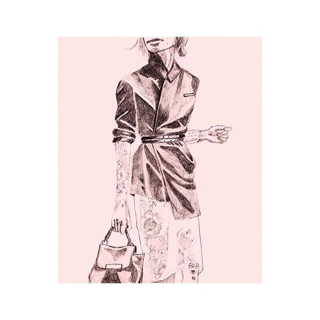 Jacket // graphite on paper // original photographer unknown // #fashion #fashionillustration #style #personalstyle #ootd #outfit #design #illustration #styleillustration #drawing #graphite #graphitedrawing #fashionart #art #artist #artistofinstagram #artistsoninstagram #artoftheday #sketchbook #instagood #inspo #couture #couture2017 #fashion2017 #2017 #beauty #feminine #feminism #outfitoftheday