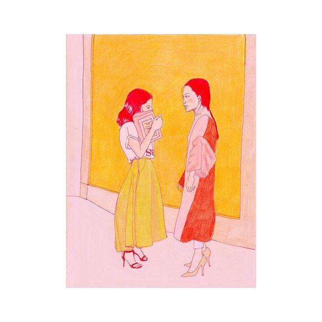Talking // colored pencil // original image by @thesartorialist / #thesartorialist #fasion #fashionillustration #illustration #style #personalstyle #fashion2017 #2017 #sketchbook #instagood #makersmovement #makersgonnamake #minimalstyle #bohemianstyle #boho #bohemiancolor #color #millenialpink #women #feminism #feminist #female #women #woman #fashionstyle #artoftheday #streetstyle #artistsoninstagram #vogue #nylonmagazine #nyfw