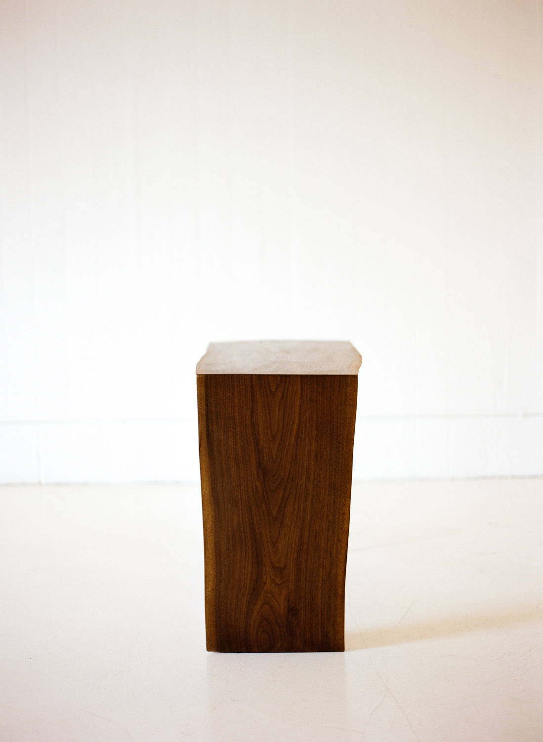 Walnut and Acrylic Console Table (detail)