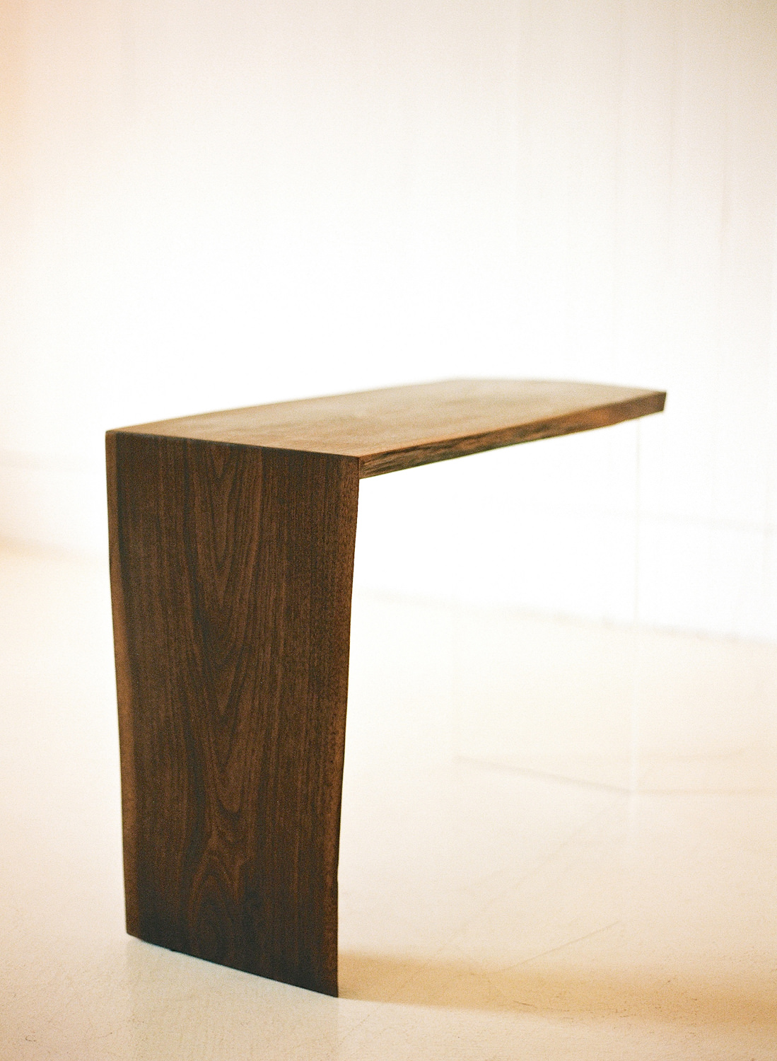 Walnut and Acrylic Console Table