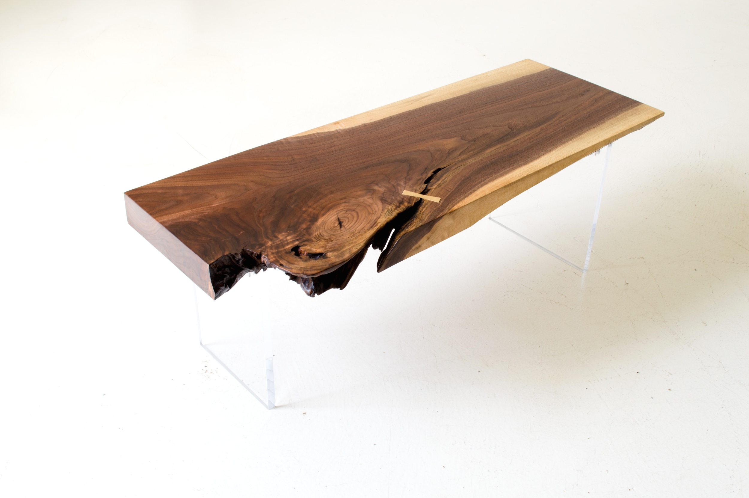 Walnut and Acrylic Low Table