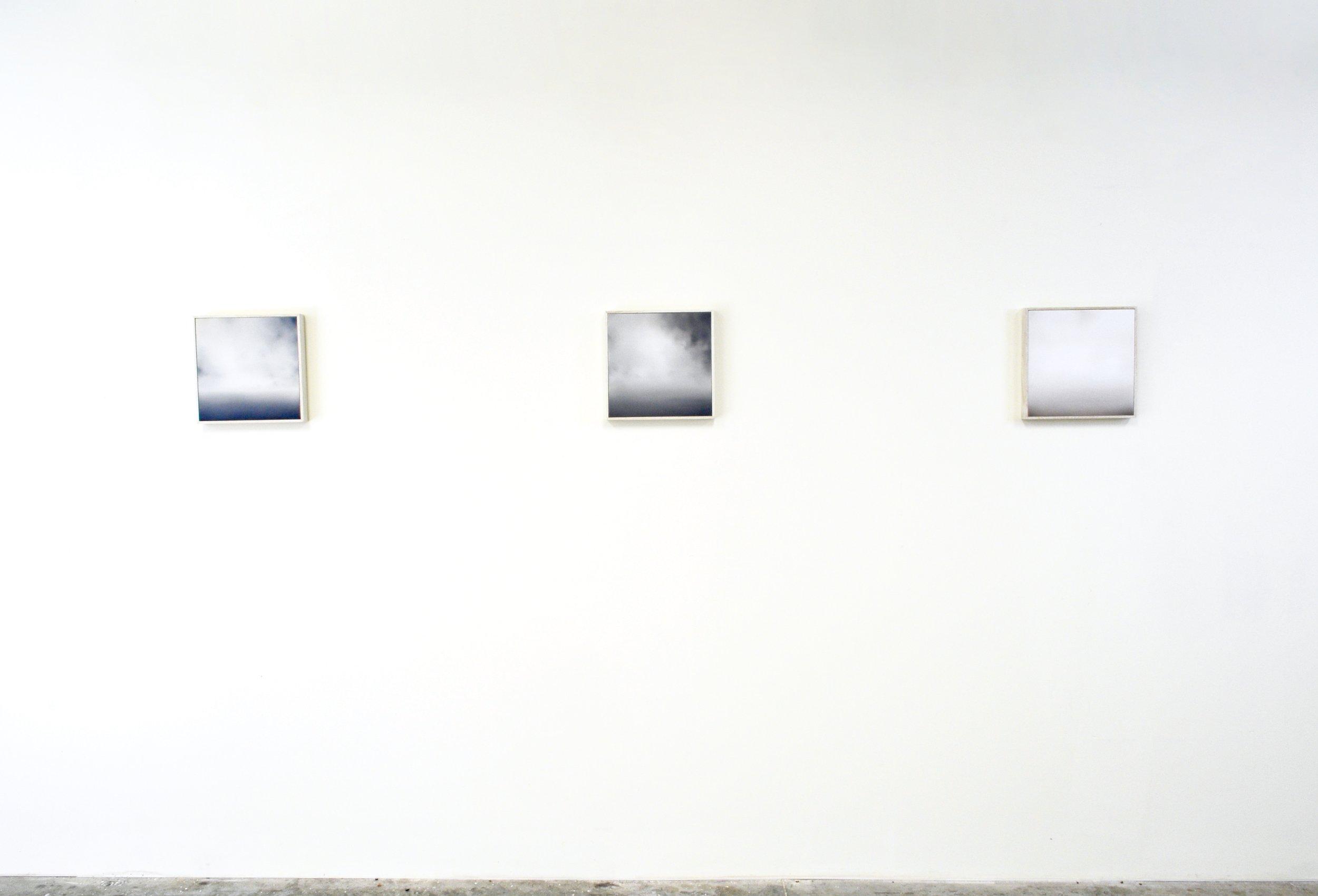 Installation View, The Sea XXVIII-XXX