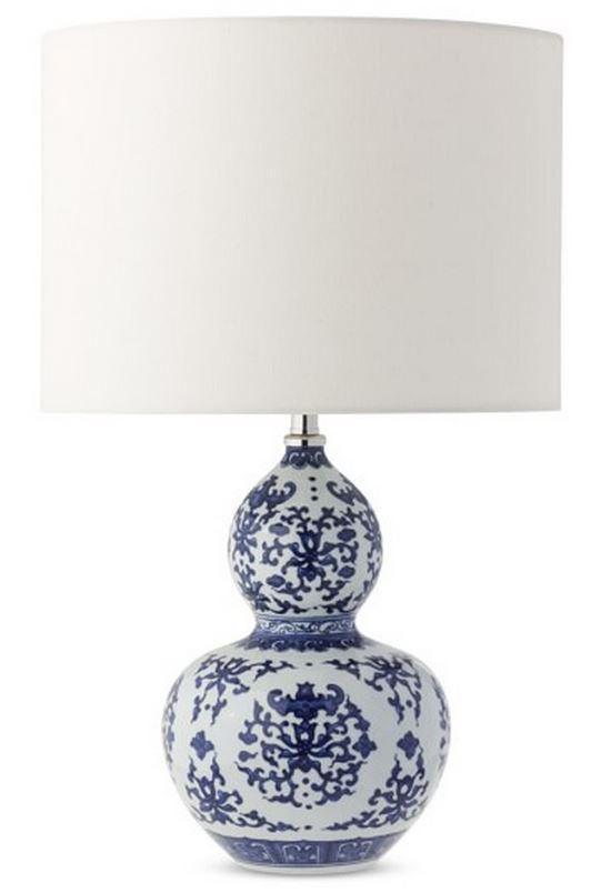 Blue and White ginger jar lamp