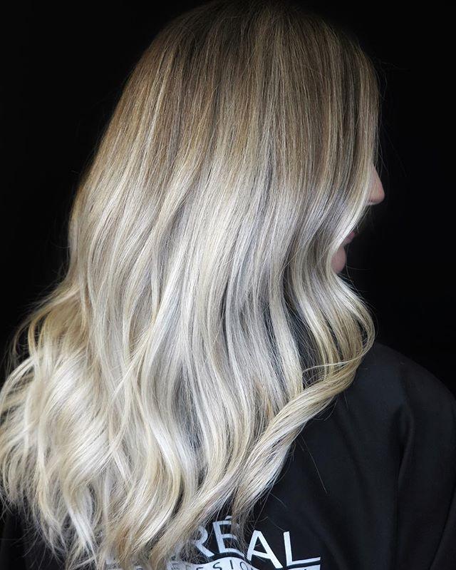 Soft and Sandy balayage on @georginastokes by Senior Stylist @hairbyheathh 😍❤️💁🏼♀️