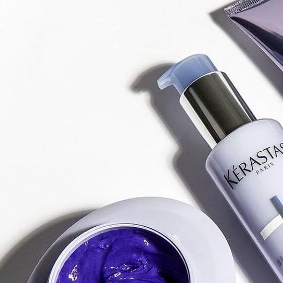 Kérastase introduces Blond Absolu, the ultra-violet hair care regimen featuring our first purple shampoo and mask. With neutralizing and bonding properties, this collection aims to preserve the fiber and tone of every blonde. Come stop by BRUSH to pick up yours! While supplies last! #brushsalonyvr #kerastaseclub