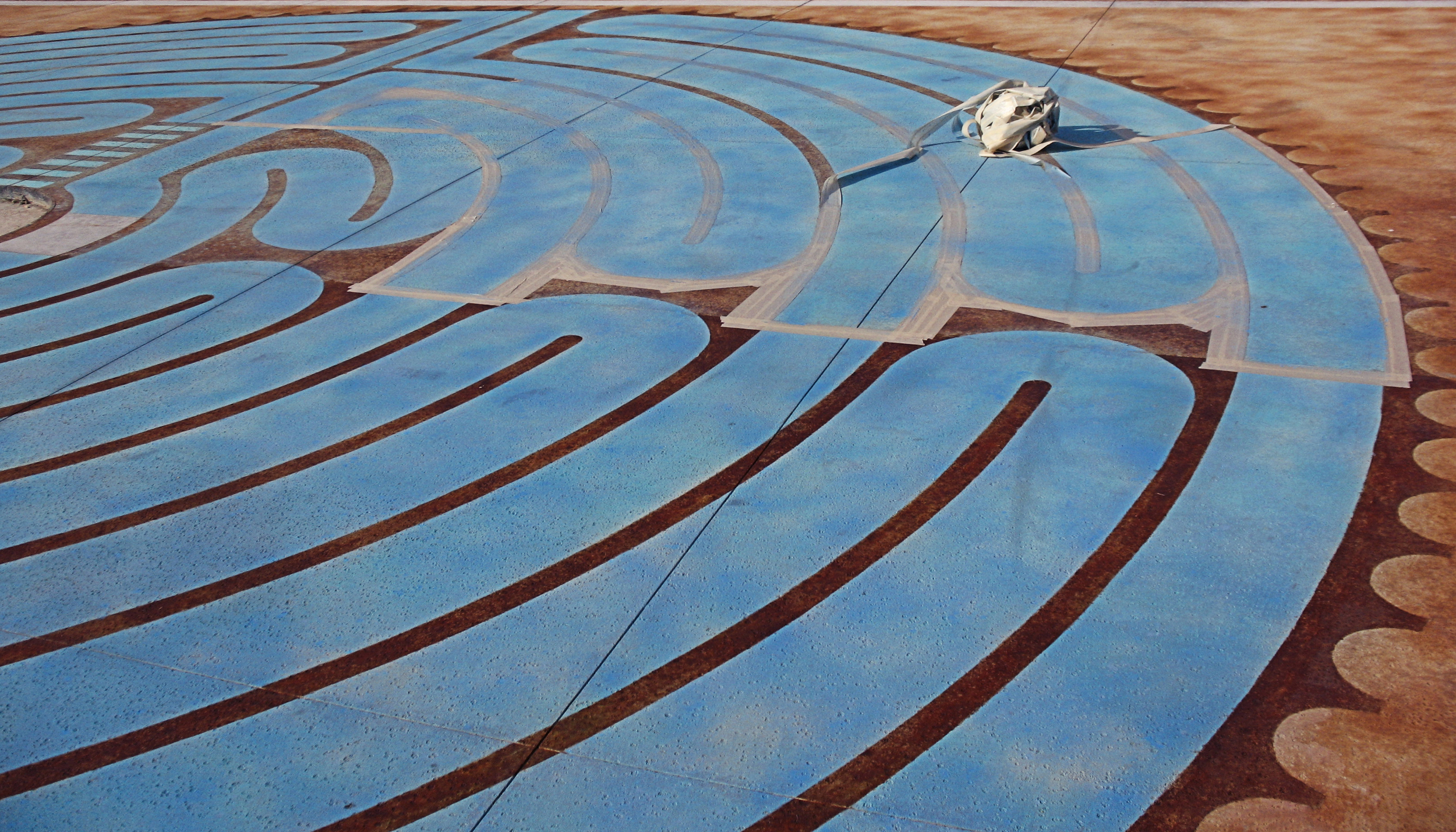 The AHA labyrinth in progress, Charlotte NC.