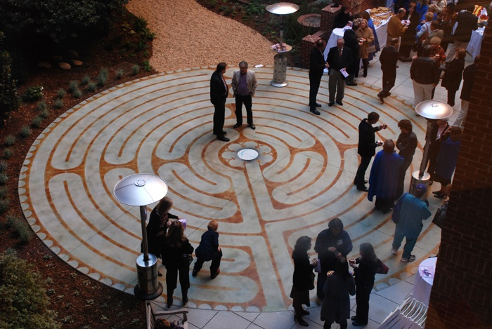The official opening and dedication of the Jack Matney Courtyard Labyrinth.