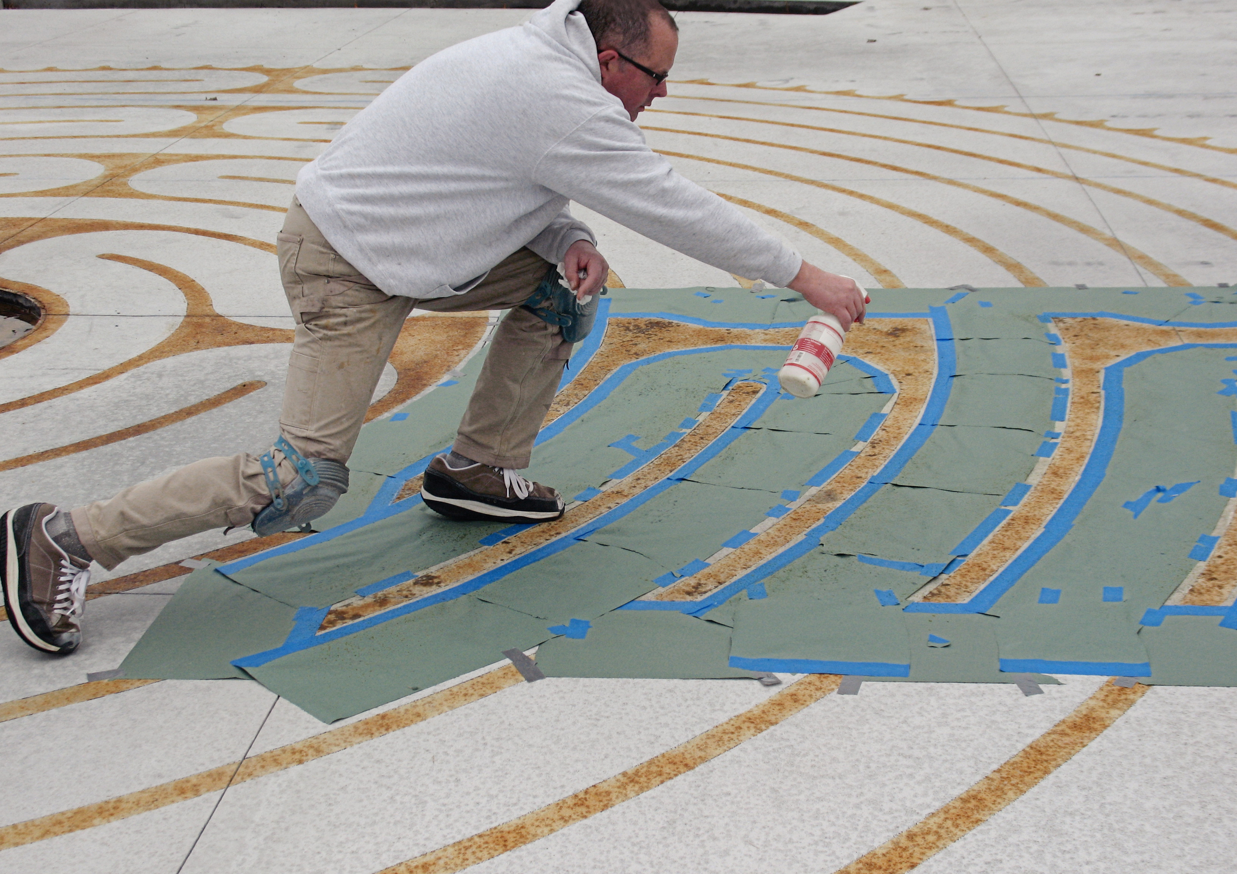 The MPBC labyrinth in progress.