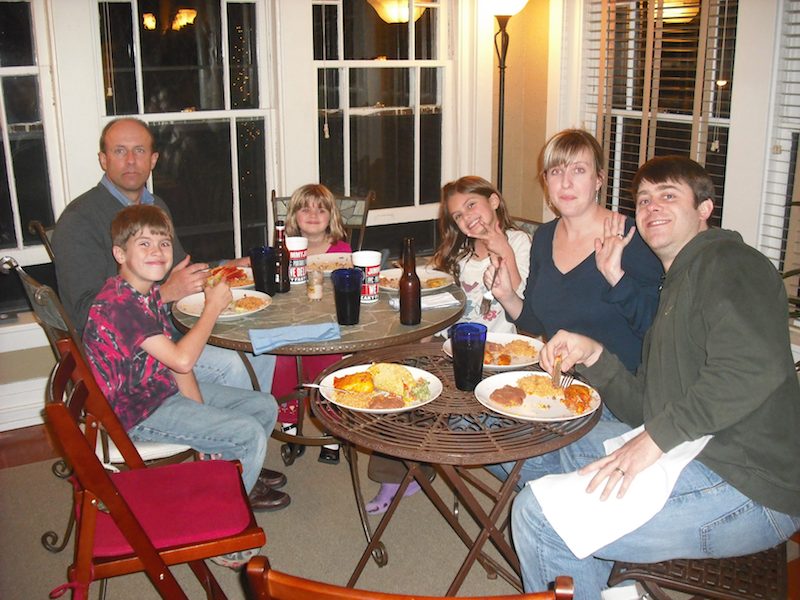 Tacos at my KC flat, 2009 (I hope family doesn't mind!)