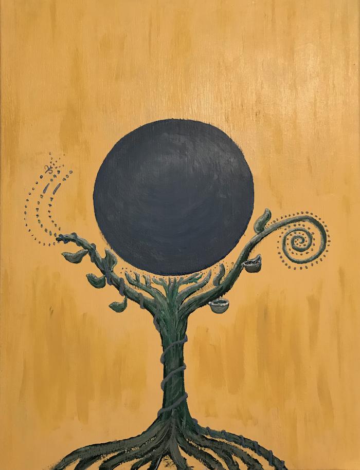 Mystery, 18x24 acrylic on canvas