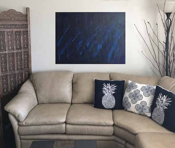 Cobalt, acrylic on canvas, 24x36.Original painting for sale   here  .