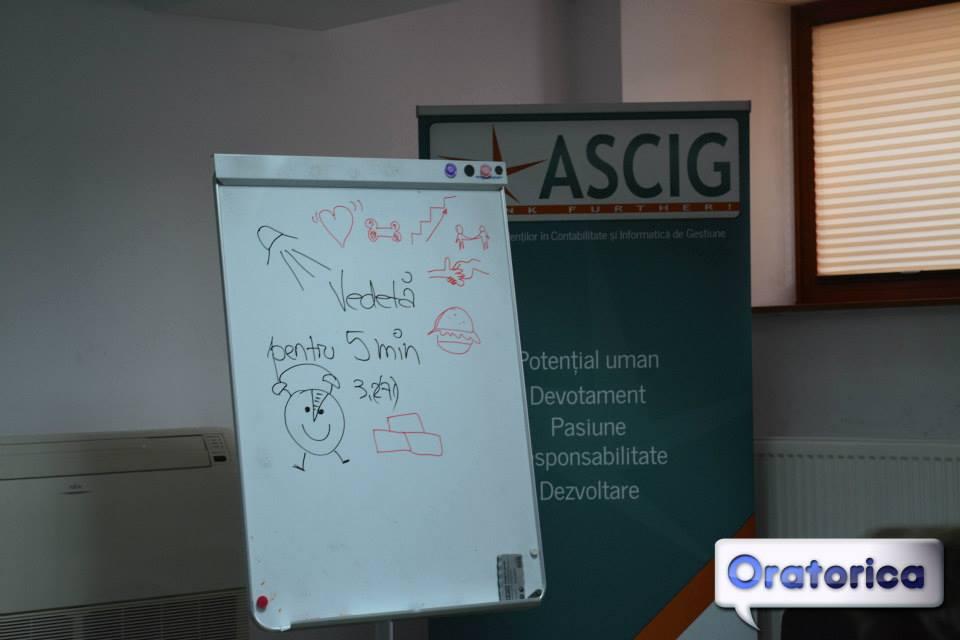 """Oratorica - facilitare grafică a workshopului """"Vedetă pentru 5 minute"""""""