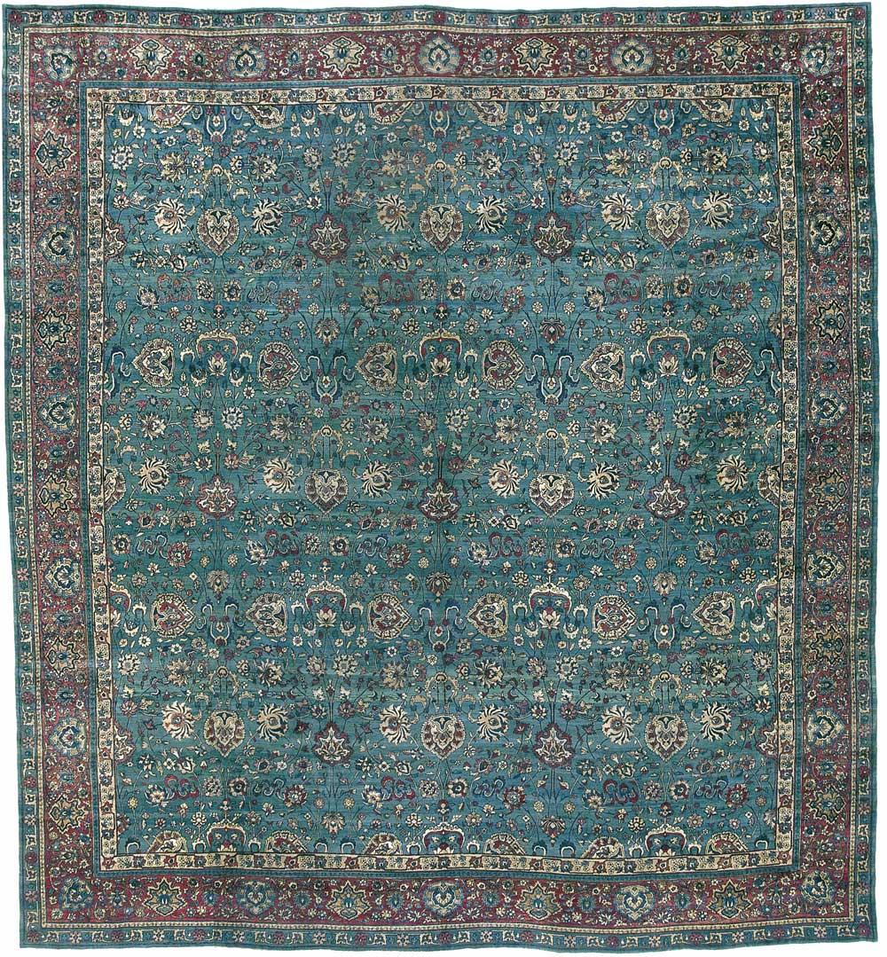 "Indo-Isfahan Carpet 17' 5"" x 15' 11"""