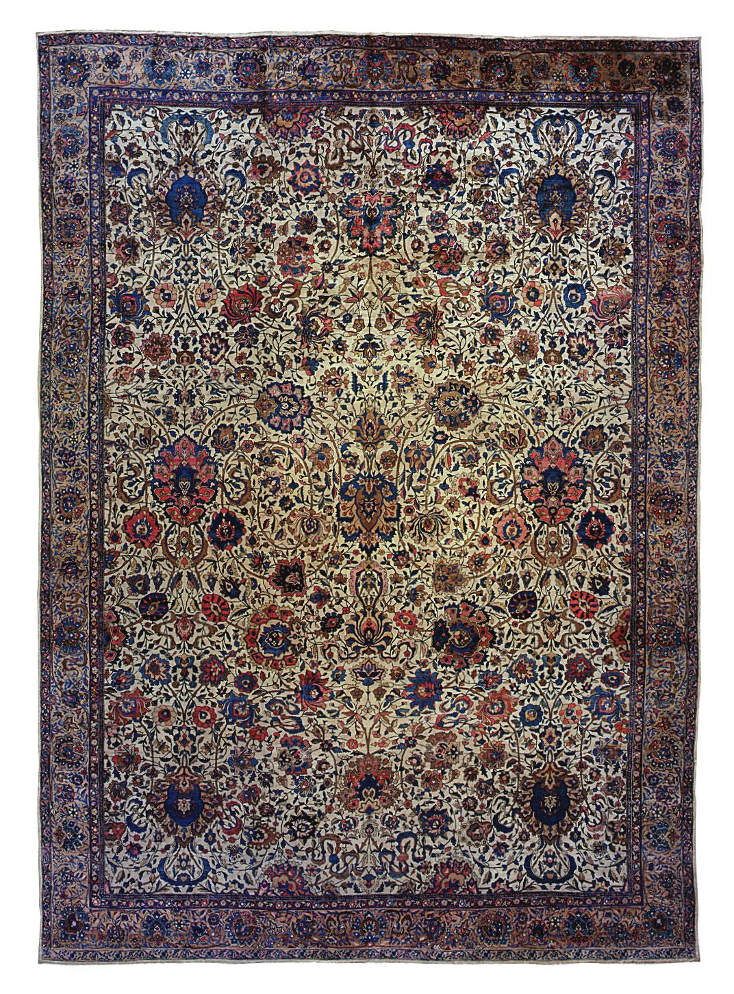 "Indo-Isfahan Carpet 20' 6"" x 14' 8"""