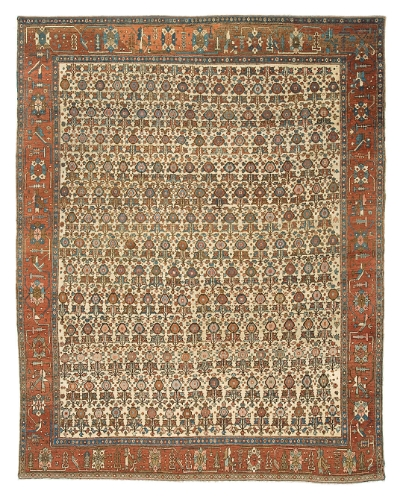 """Copy of Bakshaish Carpet 10' 10"""" x 9' 3"""""""