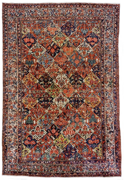 """Bakhtiari Carpet 17' 5"""" x 11' 9"""""""