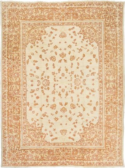 """Oushak Carpet 12' 10"""" x 9' 8"""""""