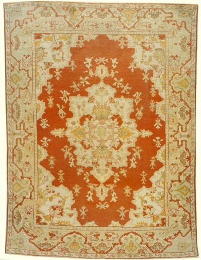 """Oushak Carpet 13' 9"""" x 10' 2"""""""