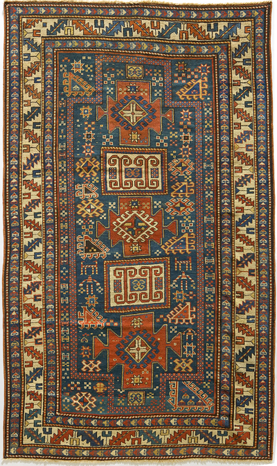 "Karachopf Kazak Double-Prayer Rug 6' 9"" x 4' 3"""