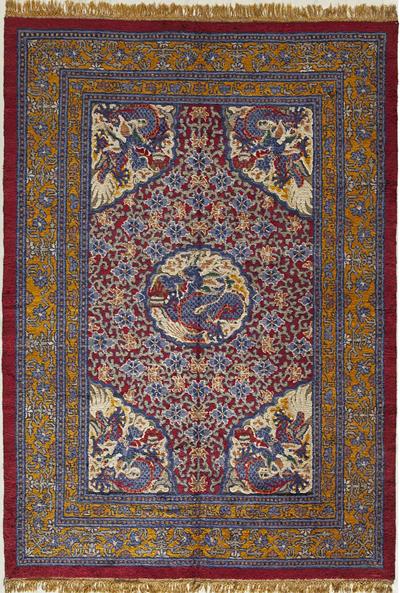 "Silk Chinese Carpet 8' 9"" x 6' 2"""