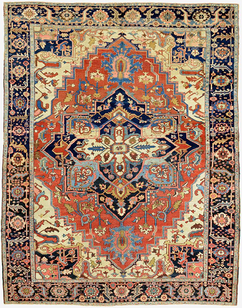 """Copy of Heriz Carpet 11' 5"""" x 9' 0"""""""