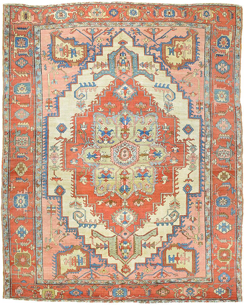"""Copy of Heriz Carpet 12' 6"""" x 9' 10"""""""