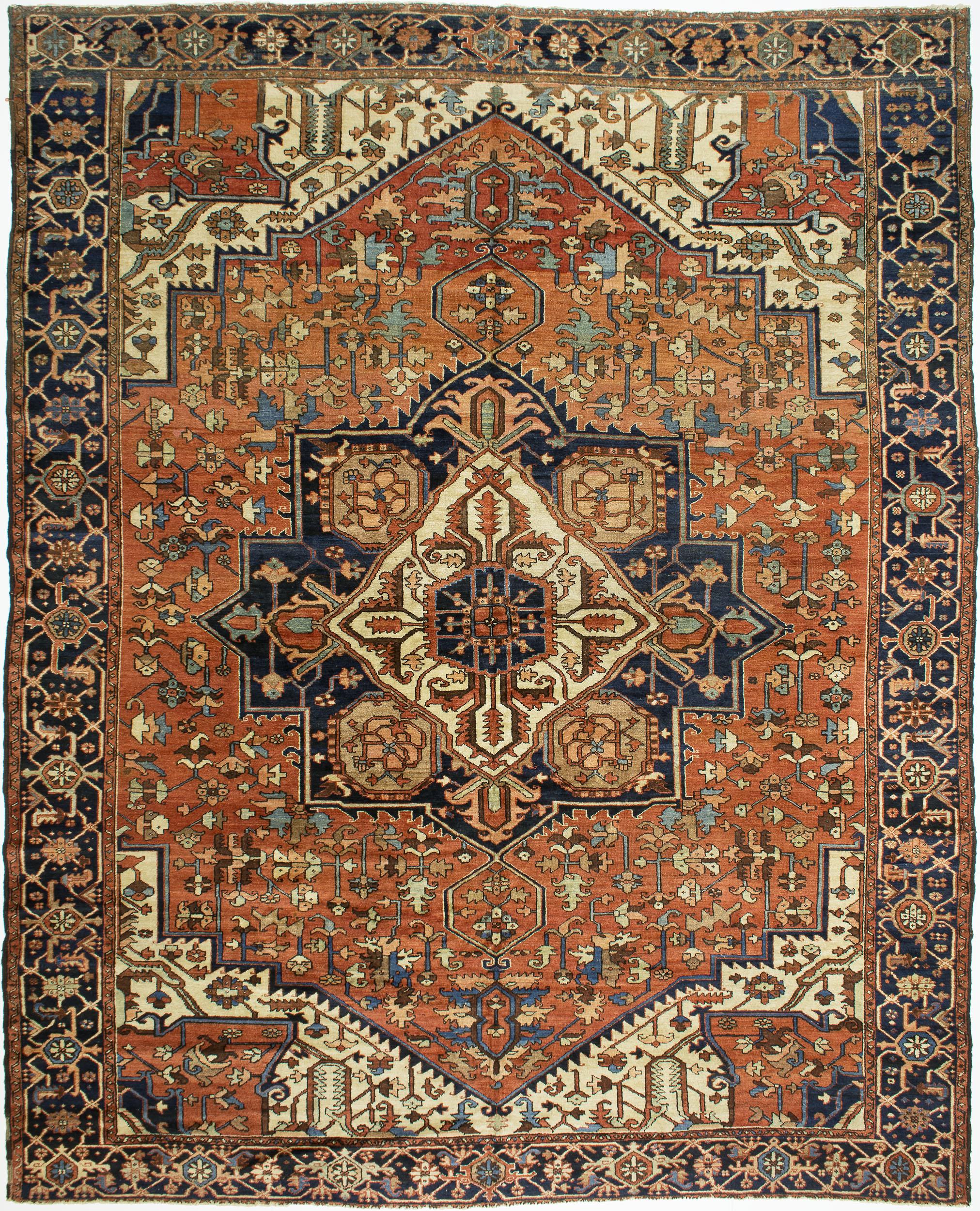"""Copy of Heriz Carpet 12' 9"""" x 10' 4"""""""