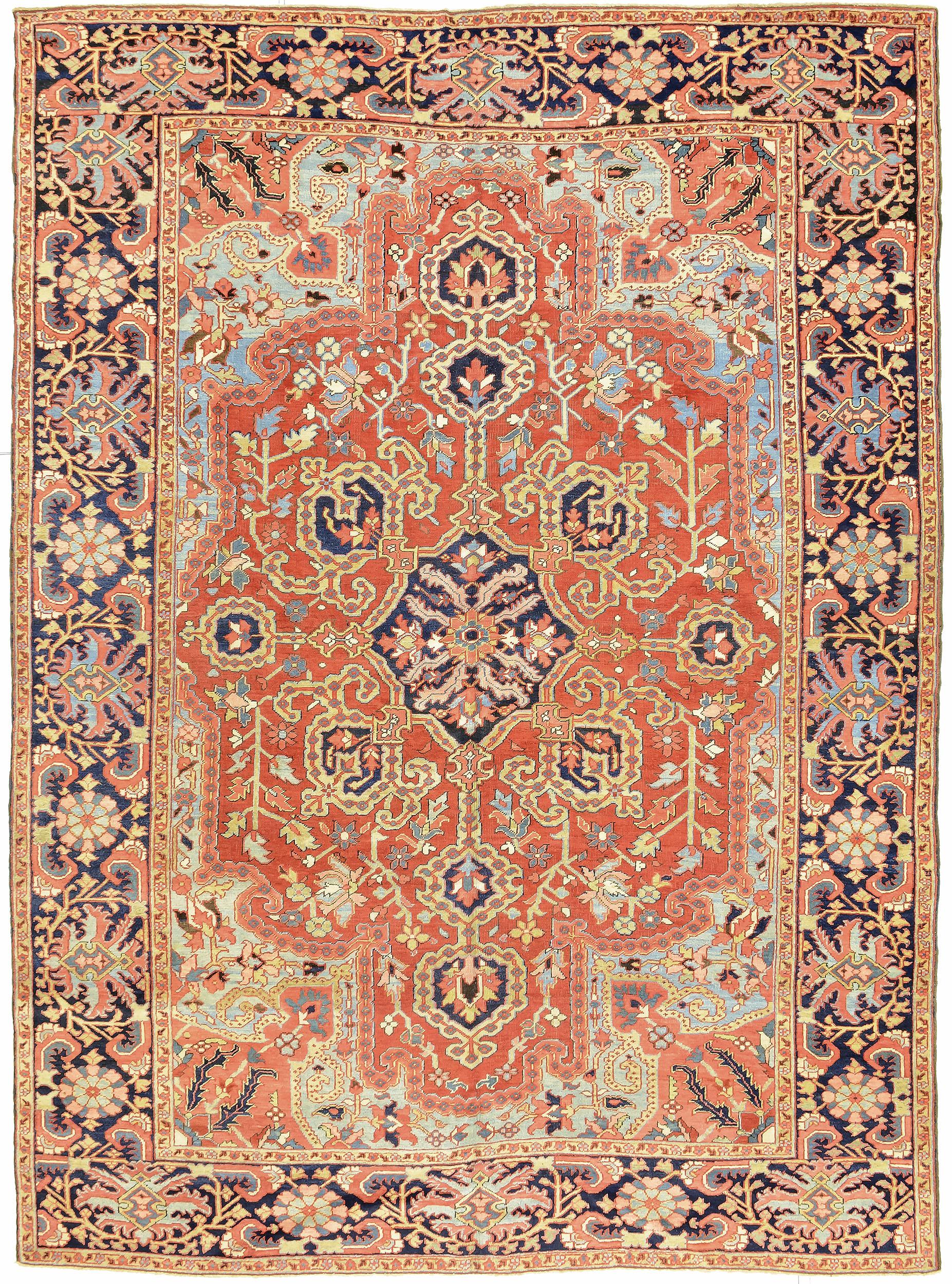 """Copy of Heriz Carpet 12' 6"""" x 9' 1"""""""