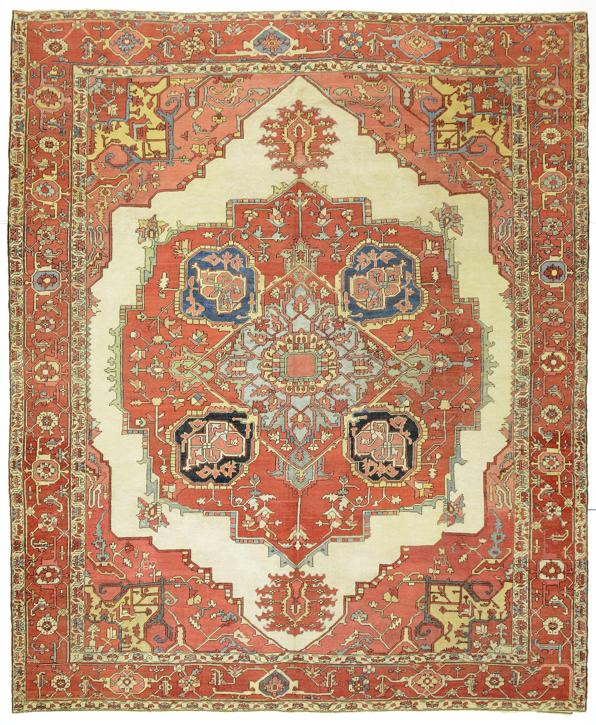 """Copy of Heriz Carpet 12' 1"""" x 10' 0"""""""