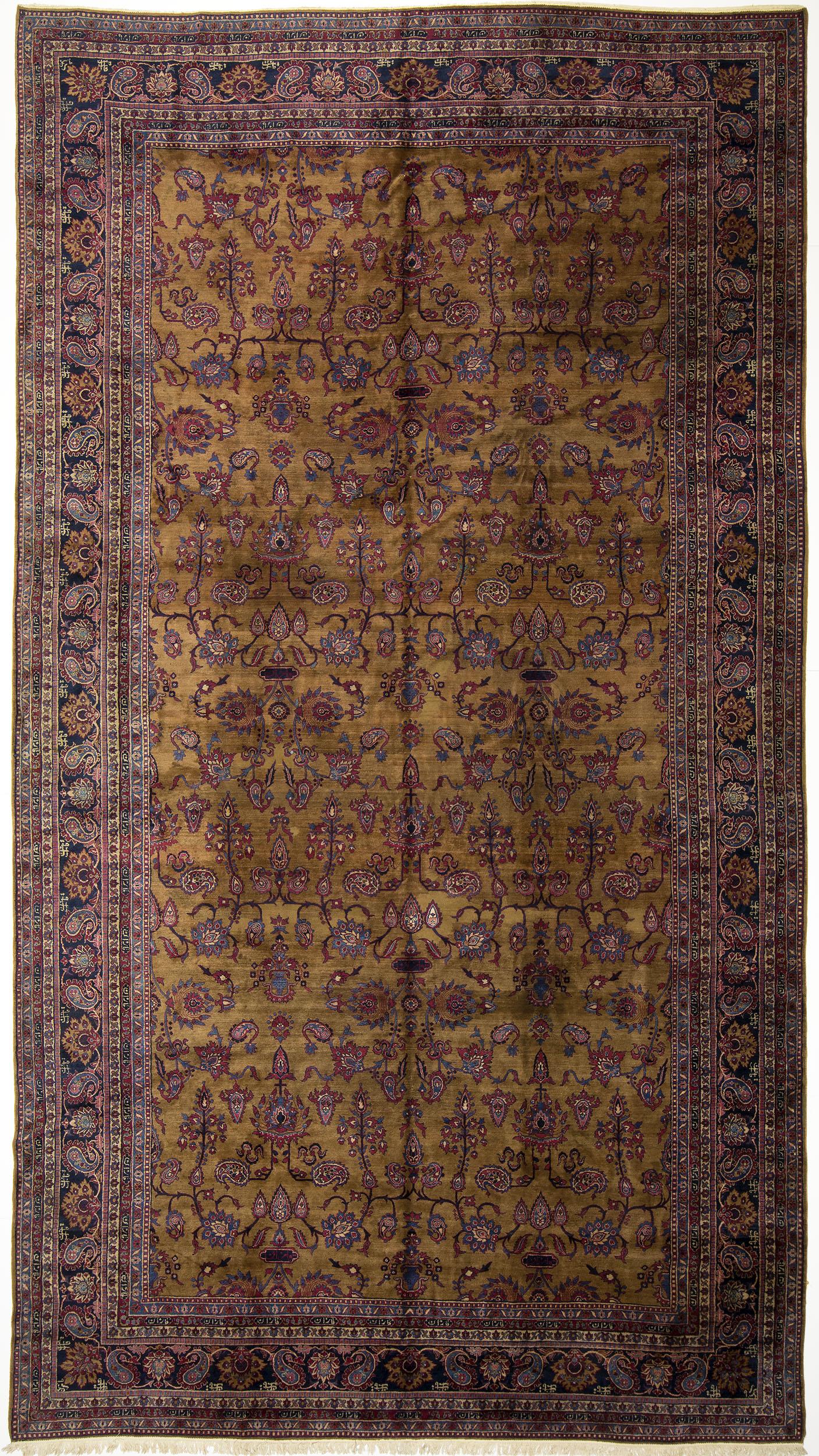 """Indo-Kerman Carpet 16' 10"""" x 9' 4"""""""
