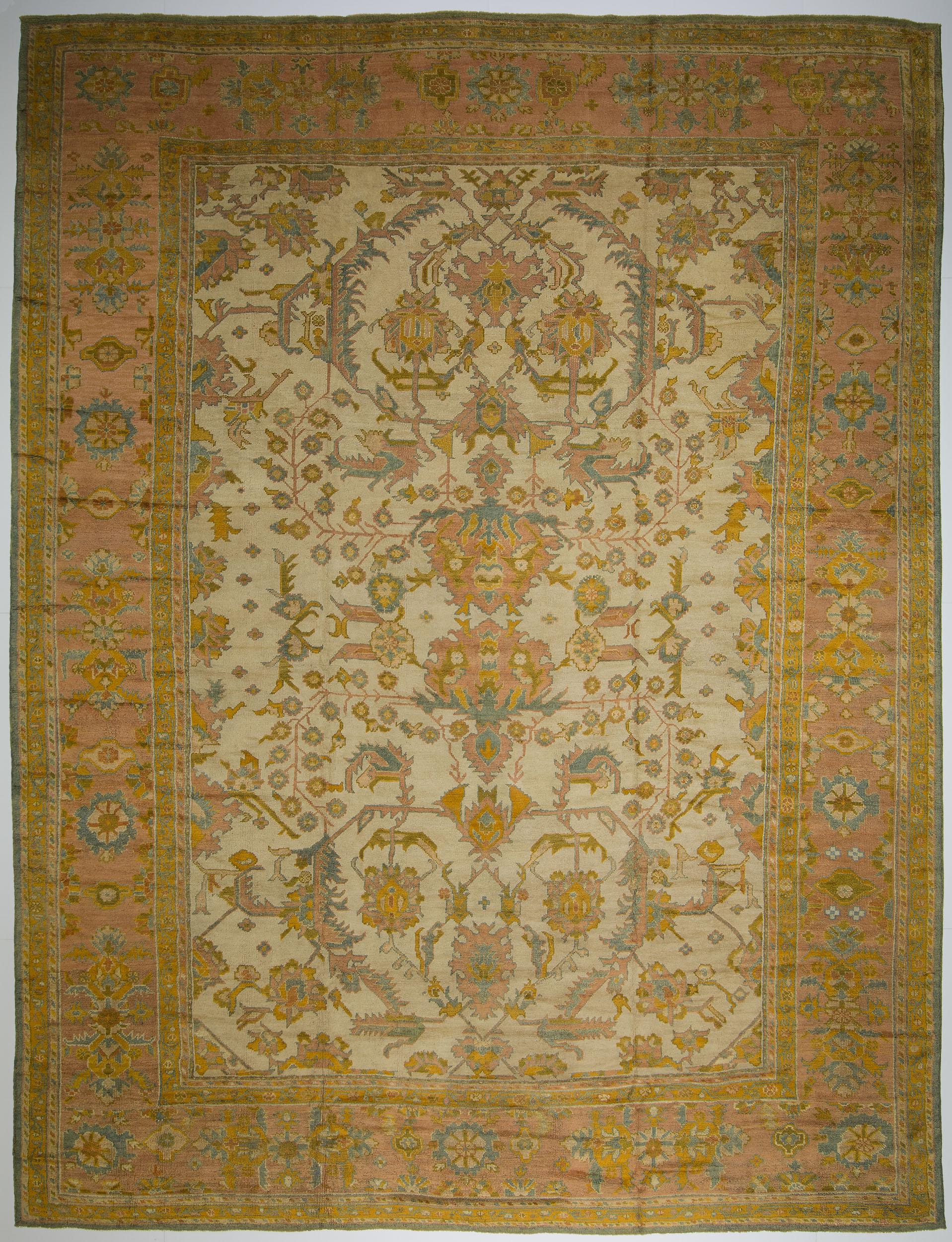 """Oushak Carpet 18' 5"""" x 13' 9"""""""